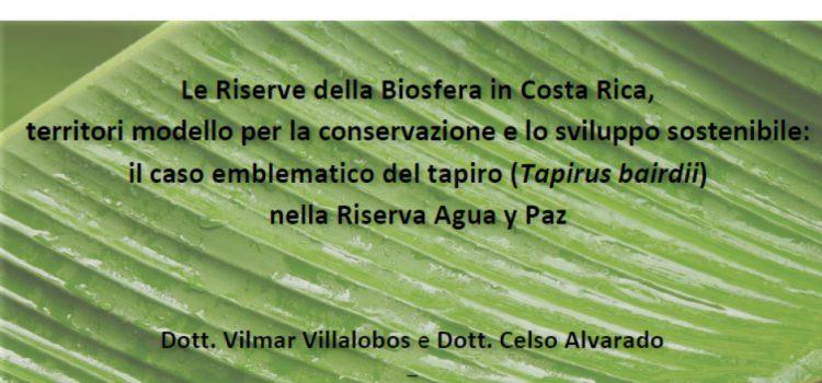 —  Seminario Riserve Biosfera Costa Rica – Mercoledì 3 luglio